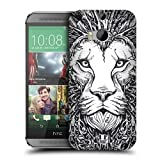 Head Case Designs Lion Doodle Animal Faces Protective Snap-on Hard Back Case Cover for HTC One M8