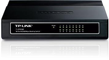 TP-LINK TL-SF1016D Switch 16 Ports 10/100Mbps (Bureau, Boîtier Plastique)