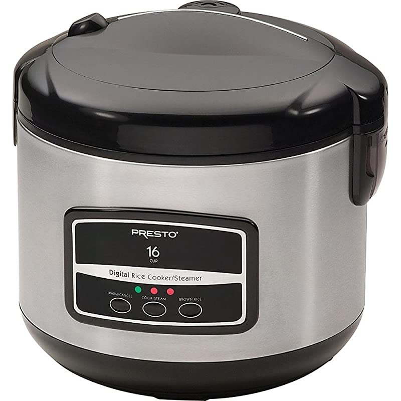 Presto 05813 16-Cup Digital Stainless Steel Rice Cooker/Steamer via Amazon