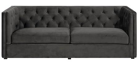 PKline Sofa BEN 3-Sitzer in dunkelgrau