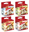 Vitapol Mixed Mineral Blocks for Rodents 40 g (Pack of 4, 1 Each of Natural/ Apple/ Orange/ Popcorn)