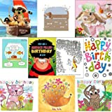 Birthday cards pack. Party time 2 - 10 Children's Birthday cardsby Woodmansterne, Paper...