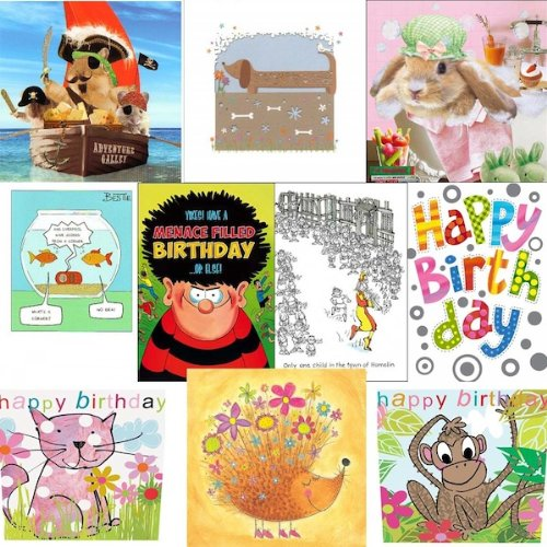 Birthday cards pack. Party time 2 - 10 Children's Birthday cards