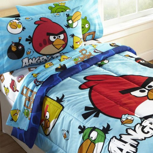 Best Prices! Angry Birds Twin Comforter Set WITH Twin Sheet Set