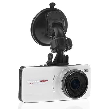 Tinksky AT66A 2.7 pouces TFT-LCD Grand Angle de 170 degrés lentille FHD 1080p H.264 voiture DVR avec G-sensor HDMI AV-Out GPS fente (blanc)