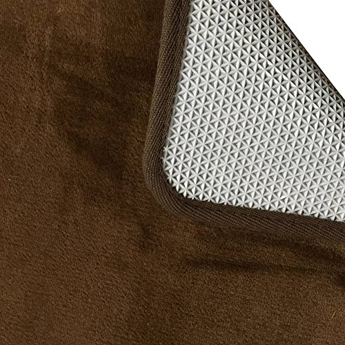 Yoler Kitchen Mat Non-slip Microfiber Flannel Area Rugs