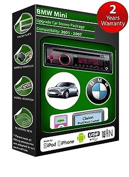 BMW Mini lecteur CD et stéréo de voiture radio Clarion jeu USB pour iPod, iPhone, Android