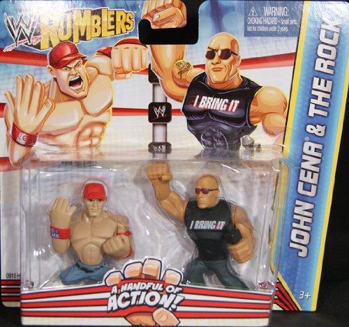 WWE Wrestling RUMBLERS John Cena /& THE ROCK