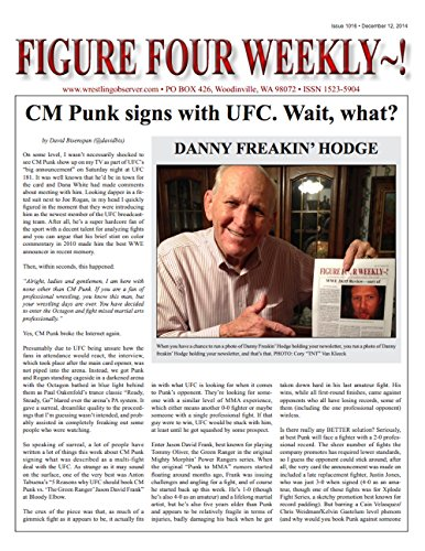 Figure Four Weekly #1016, Dec 12, 2014: CM Punk signs with UFC (Figure Four Weekly compare prices)