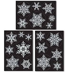 20 large snowflake window clings quick and simple