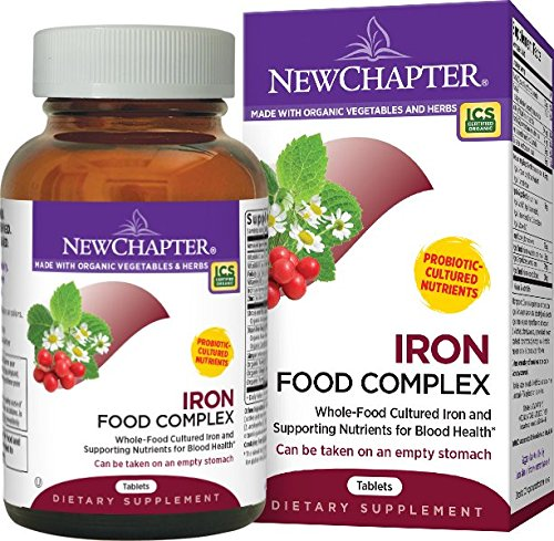 New Chapter Iron Food Complex, Iron Supplement with Organic Non-GMO Ingredients  - 60 ct (Iron Supplement For Women compare prices)