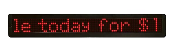 MYSTIGLO Scrolling LED Messenger Sign