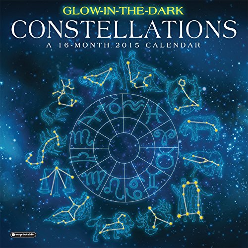 Orange Circle Studio 16-Month 2015 Wall Calendar, Glow-In-The-Dark Constellations (51152)