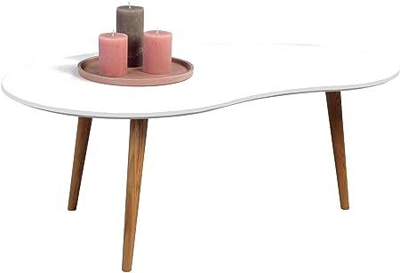 HomeTrends4You 245026 Couchtisch, Holz, weiß / wildeiche, 110 x 70 x 43 cm