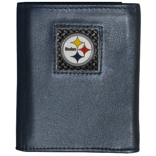 NFL Pittsburgh Steelers Gridiron Leather Tri-Fold Wallet