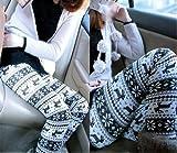 Knitted Snowflake Pattern Leggings