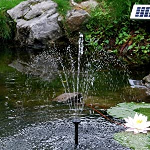 Sunspray se 360 solar fountain for small ponds and for Garden pond amazon
