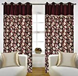 "Home Candy Eyelet Fancy Polyester 2 Piece Door Curtain Set - 84""x48"", Brown (SOE-CUR-160_160)"