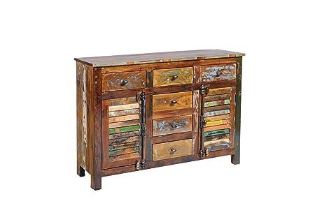 Anrichte Kommode Sideboard 'Allegro' Altholz massiv bunt Holz vintage