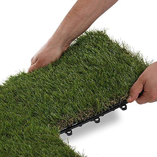 Garden winds grass deck tiles 35mm hardware building materials flooring artificial turf - Interlocking deck tiles on grass ...