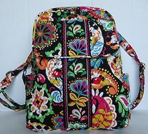 Amazon.com: Vera Bradley Small Backpack in Midnight Mickey: Clothing
