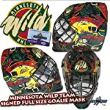 MINNESOTA WILD Team Signed Full Size GOALIE MASK w/COA - KOIVU - BACKSTROM - Autographed NHL Helmets and Masks