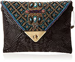 Mary Frances Instaglam Beads Clutch, Multi, One Size