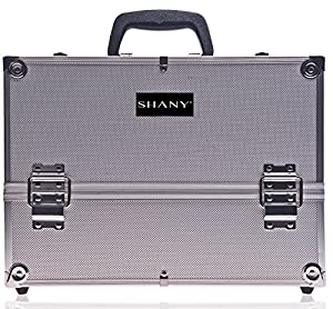 SHANY Silver Aluminum Makeup Case, 4 Pounds