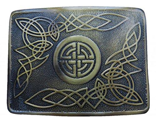 Scottish Kilt belt buckle #28 Antiqued Brass Finish