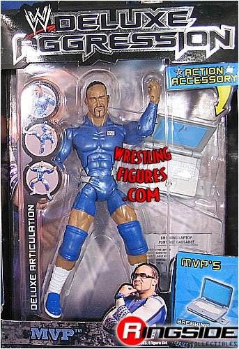 Buy Low Price Jakks Pacific W Deluxe Aggression Series 11 Action Figure + Action Accessory – MVP (B0014F52BM)