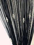 Jeder wird diesen dekorativen Vorhang mit seinen schönen Farben und weichen Linien lieben.  Leicht zu benutzen und zu reinigen.  Material: wenig elastischer Garn, Kunst-Kristall-Perlen.  Farbe: Schwarz.