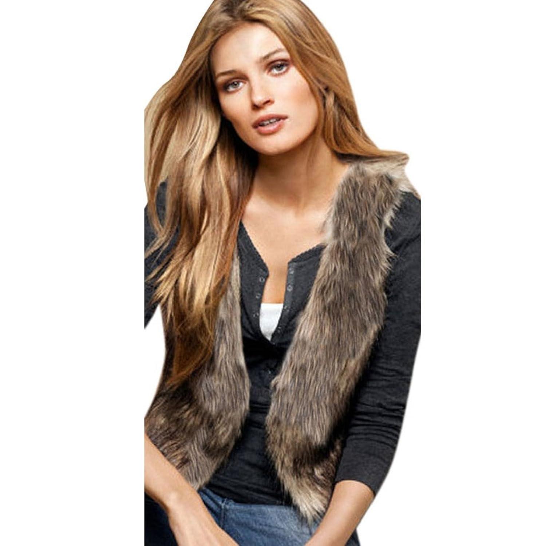 Tonsee Neue Frauen Weste ärmellos Coat Outerwear langes Haar Jacke Weste günstig kaufen