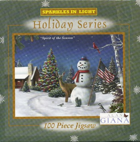 Alan Giana Sparkles in Light Holiday Series Spirit of the Season 100 Piece Puzzle