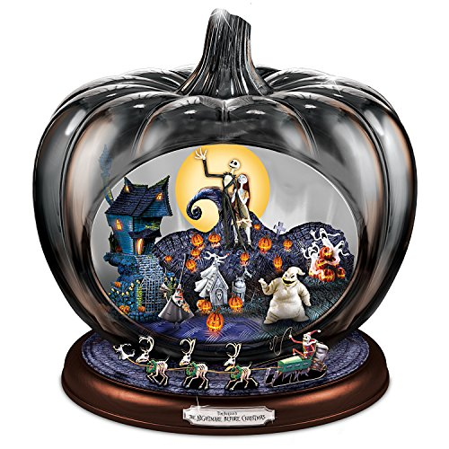 Disney The Nightmare Before Christmas Pumpkin Sculpture: Lights Music And Motion