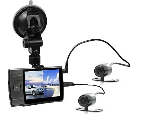 """Kool S3000A Système de caméras embarquées pour voiture avec 2 caméras d'enregistrement et 1 écran 3,5"""" TFT HD 1080P Noir"""