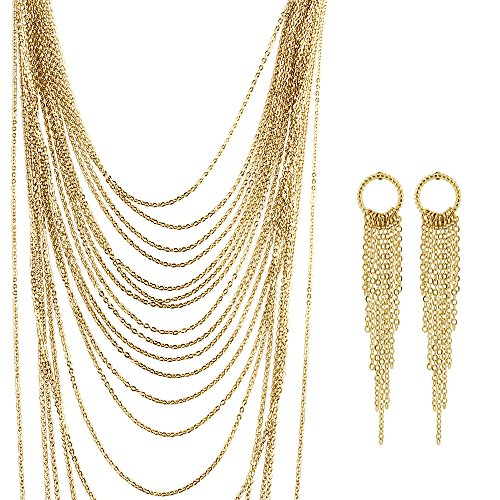 BERRICLE-Gold-Tone-Fashion-Necklace-and-Earrings-Set