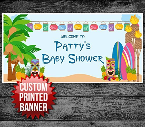 hawaiian party personalized banner shop now top sale hawaiian