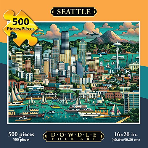 Jigsaw Puzzle - Seattle 500 Pc By Dowdle Folk Art
