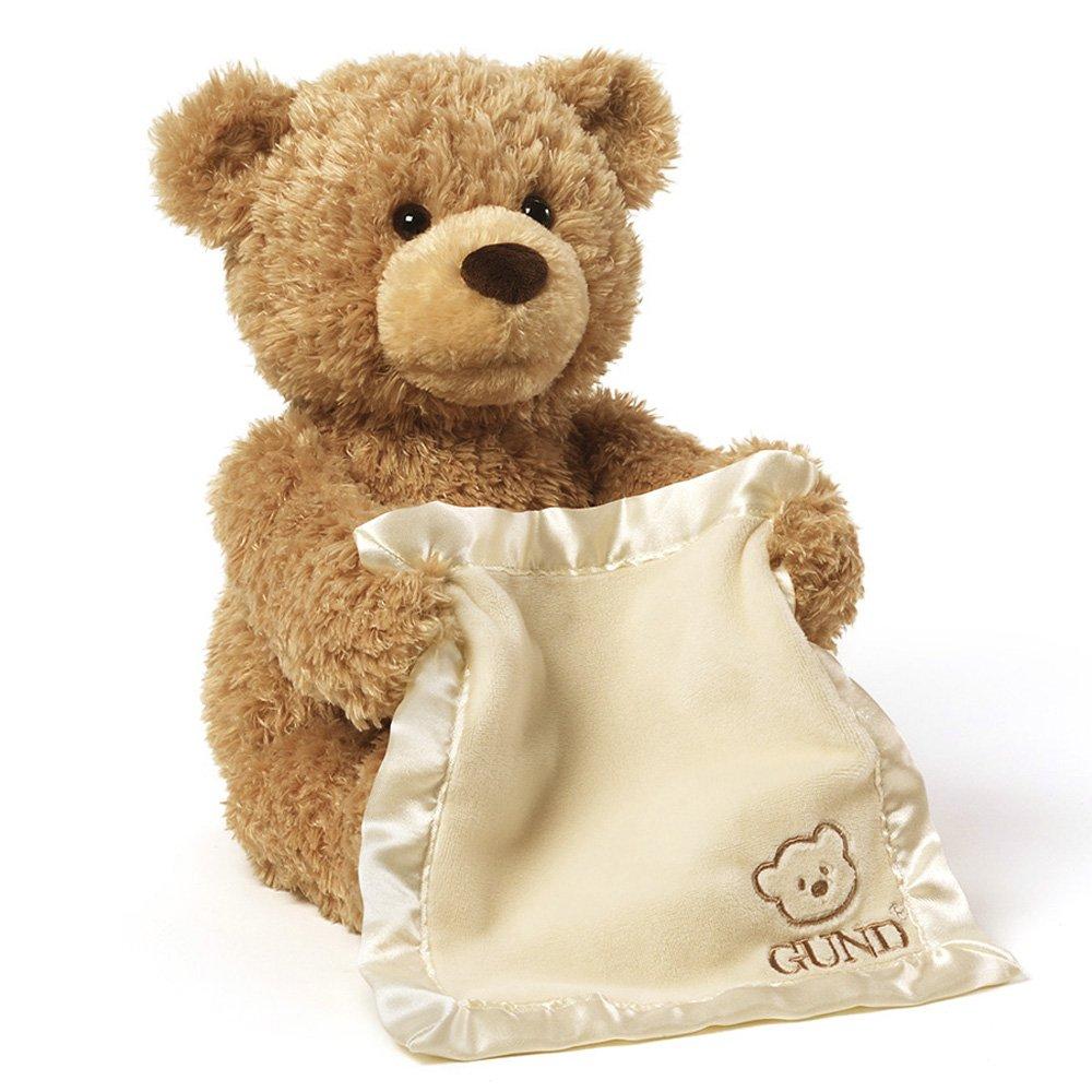 gund peek a boo teddy bear animated stuffed animal ebay. Black Bedroom Furniture Sets. Home Design Ideas