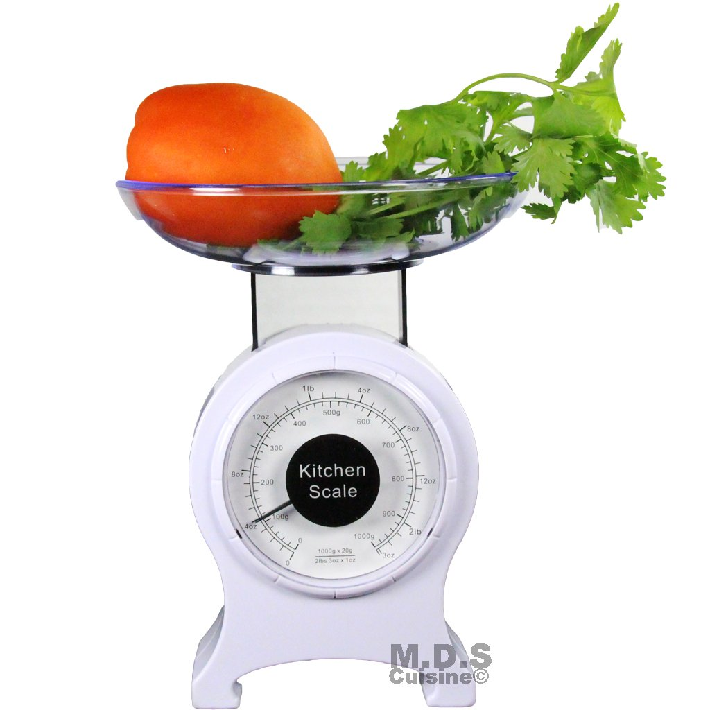 Kitchen Scale Retro Mechanical Dial 0-2lb Food Scale Diet Portable measuring scale 0