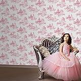 Disney Princess Pink and White Toile De Jouy Wallpaper 70 233 x 2
