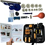 HAOBAIMEI 213 PCS Watch Repair Kit,Watch Battery Replacement Tool Kit with Carrying Case and Instruction Manual,Watch Press Set (large213) (Tamaño: large213)