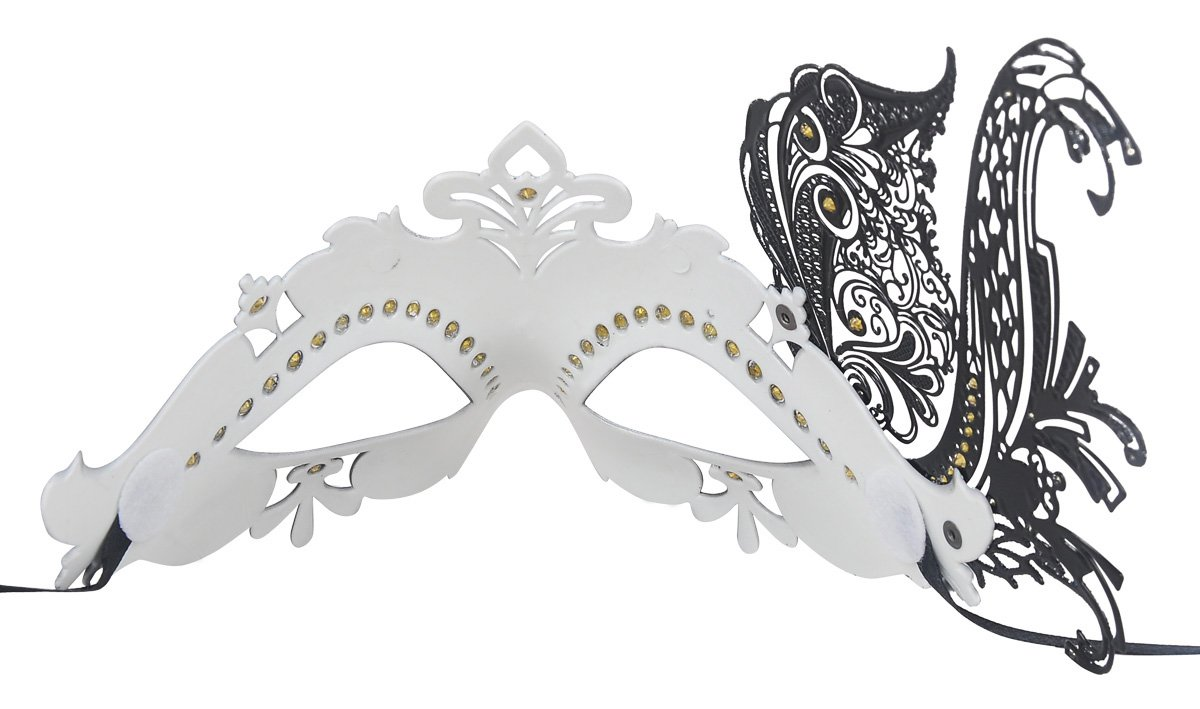 Coxeer Venetian Mask Halloween Mask Party Mask Vintage Masquerade Mask for Prom 6