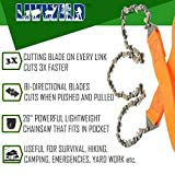 "26"" Camping Pocket Chainsaw Cuts 3x Faster w/ Blade on Every Link - Bonus Front Snap Carrying Case, the Wilderness Survival Guide Ebook, and Mylar Emergency Blanket"