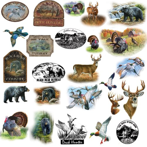 RoomMates RMK1071SCS Wildlife Medley Peel & Stick Wall Decals