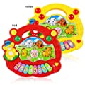 seguryy 1pc 17.5cm x 15.5cm x 4cm Farm Animal Plastic Musical Instruments Piano Sound Educational Toys for Children