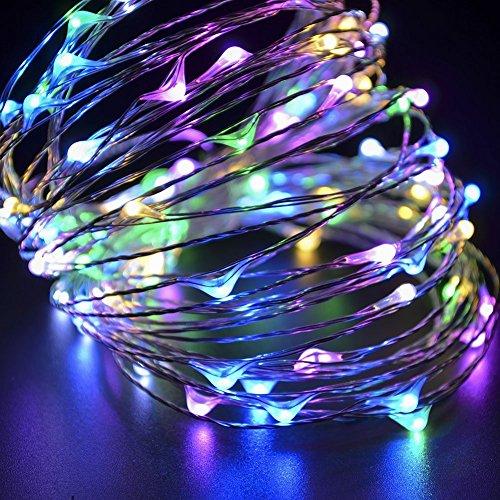 Ambielly 10m di Natale luce della stringa LED, per le vacanze di Natale decorativo 100 LED luci blu luce di Natale rame String Per Natale Wedding Halloween luci leggiadramente della stringa con interfaccia USB