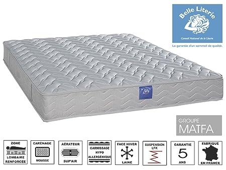 Belle Literie - Matelas Intimité 21 Cm - Blanc - 140 X 190 Cm