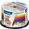 三菱化学メディア Verbatim DVD-RW(Video with CPRM) 繰り返し録画用 120分 1-2倍速対応 50枚スピンドルケース50P インクジェットプリンタ対応(ホワイト) ワイド印刷エリア対応 VHW12NP50SV1