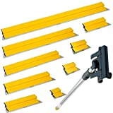 TapeTech 10-Piece Drywall Finishing Tool Smoothing Blade / Wipe Down Knife Set with Extension Handle